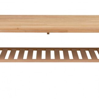 Brooklyn sofabord - børstet eg m. 1 hylde (130x75)