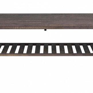 Brooklyn sofabord - røget eg m. 1 hylde (130x75)