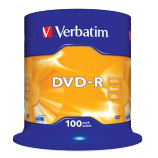 DVD-R 16x 4,7GB spindle, 100 stk