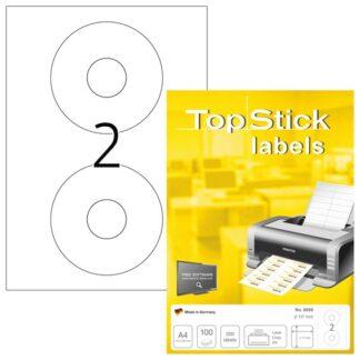 Etiketter TopStick CD/DVD Ø117mm (100)