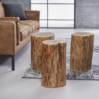 FURBO sofaborde - massivt akacietræ (sæt m. 3) (Ø 35)
