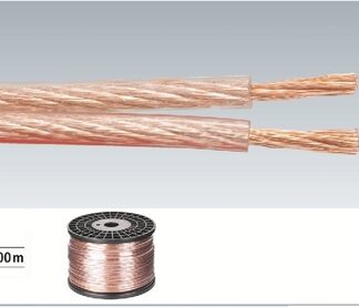 Højtaler kabel rulle med 100m 2 x 2,5mm2