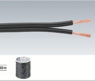 Højtaler ledning sort 100m SPC-70/SW