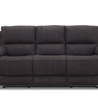HAGA Texas 3 pers. recliner sofa - gråt stof