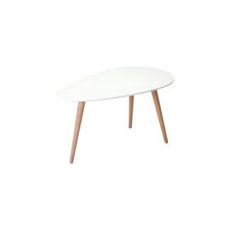 Just sofabord - hvidt/natur stel, lille, trekantet