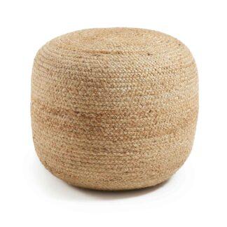 LAFORMA Dip puf - natur jute, rund (Ø50)