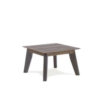 Malaga hjørnebord - brunt akacietræ og grå ben (70x70)