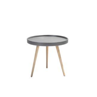 Opus sofabord - grå/natur træ/bøgetræ, rund (Ø:50)