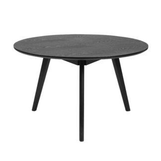 Yumi sofabord - sort asketræ, rundt (Ø90)