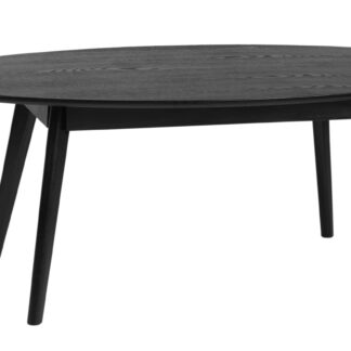 Yumi sofabord - sort egetræ, ovalt (130x65)
