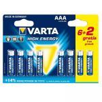 Alkaline Batteri Aaa 1.5 V High Energy 8-Promotional Blister