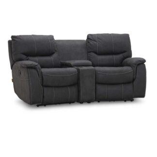 HAGA Colorado sofa - grafit grå stof, 2 pers., m. recliner funktion