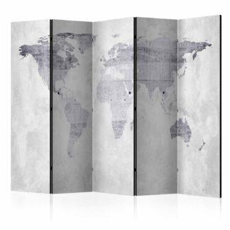 ARTGEIST Concrete Map rumdeler - grå print (172x225)