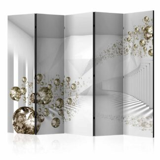 ARTGEIST Diamond Corridor II rumdeler - grå/guld print (172x225)
