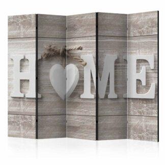 ARTGEIST Home and heart rumdeler - natur/hvid print (172x225)