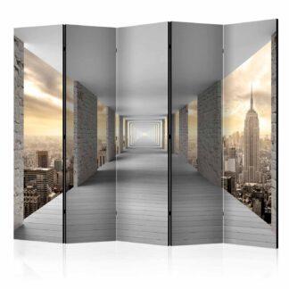 ARTGEIST Skyward Corridor II rumdeler - gul/grå print (172x225)