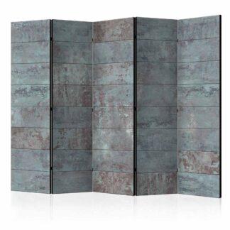 ARTGEIST Turquoise Concrete II rumdeler - turkis/rust print (172x225)
