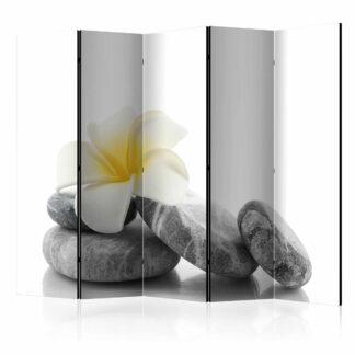 ARTGEIST White Lotus II rumdeler - grå/hvid/gul print (172x225)