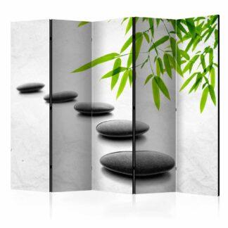 ARTGEIST Zen Stones II rumdeler - grøn/grå print (172x225)