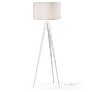LAFORMA Uzagi gulvlampe - hvid metal/stof