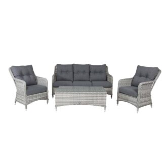 Vikelund - Sofa set - Grey/Grey cushion