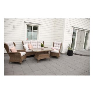Washington - Sofa sets 3+2+1 - Nature Wicker/nature cushions