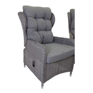 Washington - Sofa sets with recliner chair - Grey Wicker/Grey cushions