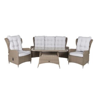 Washington - Sofa sets with recliner chair - Nature Wicker/nature cushions