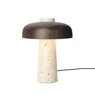MENU Reverse Bordlampe Travertin & Bruneret Messing