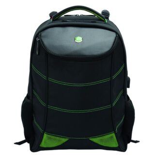 17'' BestLife Gaming Backpack Snake Eye, Black/Green
