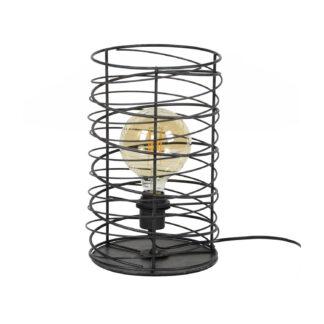 FURBO bordlampe, m. spiralformet lampeskærm - sort metal