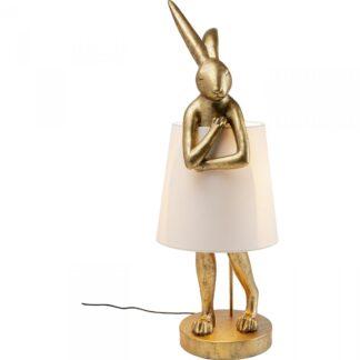 KARE DESIGN Animal Rabbit Gold bordlampe - bomuld og guld polyresin (H:88cm)