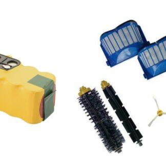 Sampak Roomba batteri + reservedels kit-3 arm (600 serien)