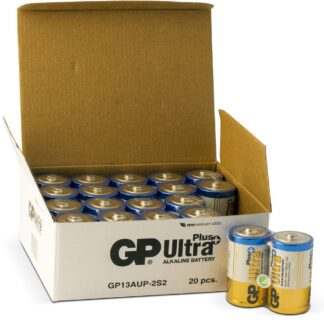 20 stk. GP D Ultra Plus batterier / LR20