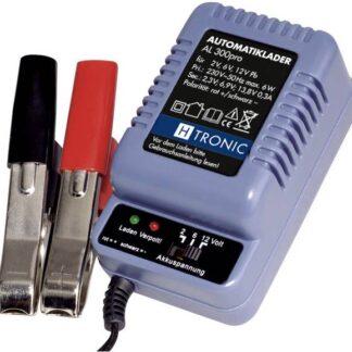 AL-300 Automatisk batterioplader til 2, 6 og 12 volts blybatterier