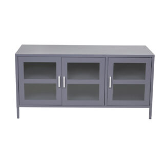 VENTURE DESIGN Acero TV-bord, m. 3 låger og 2 hylder - lysegrå metal