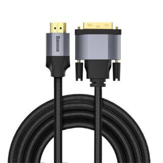 BASEUS Enjoyment - DVI til HDMI / HDMI til DVI adapter - Tovejs 4K - Mørkegrå