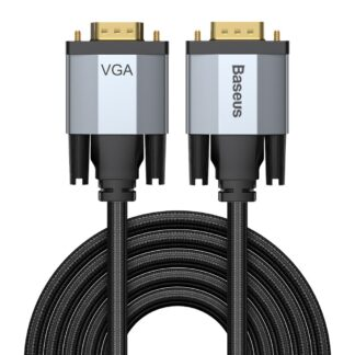 BASEUS Enjoyment - VGA til VGA kabel adapter 3m - 1080p - Mørkegrå