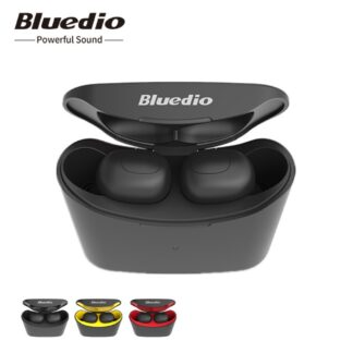 BLUEDIO T-Elf 2 - TWS Bluetooth V5.0 - Noise Cancellation Høretelefoner med opladerbox - Sort