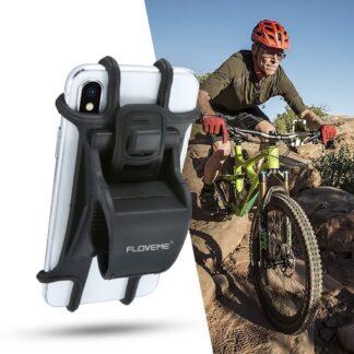 FLOVEME - Cykelholder i silikone til iphone/Smartphone - Sort