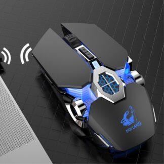 FREE WOLF - Trådløs 2.4Gh mekanisk Gaming mus - 7 LED backlight farver - Sort