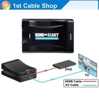 HDMI til Scart adapter 1080p DVD/Video