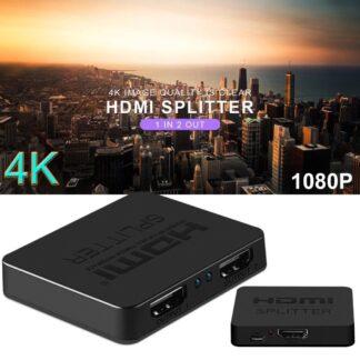 HDMi splitter / repeater - 4K Fuld HD - Tilslut DVD / TV-bokse mm til 2 TV
