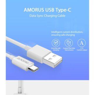 Huawei Mate 20 pro / Mate 20 Lite / Mate 20 - AMORUS Type-C USB oplader kabel 1m hvid