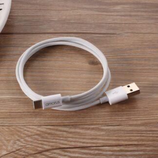 Huawei P30 Pro/P30 Lite/P30 - AMORUS Type-C USB oplader kabel 1m hvid
