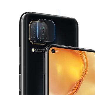 Huawei P40 Lite - Hærdet beskyttelsesglas til kamera linsen m/komplet dækning
