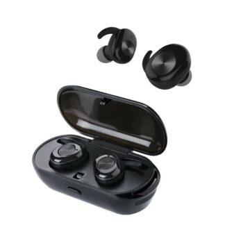J3s - TWS EarBuds - Trådløse Bluetooth V5.0 Høretelefoner med opladerbox - Sort