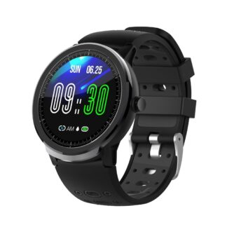 LEMONDA C21 - Bluetooth Smartwatch med Touchskærm - Puls / Vandtæt / sportsmodes - Sort