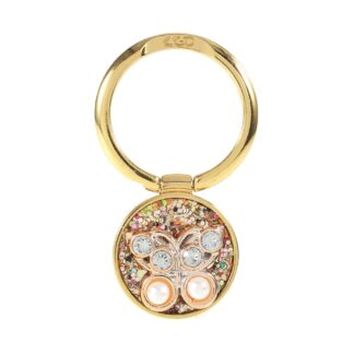 LGD Rhinestone - Finger grip holder til iphone / Smartphones - Guld