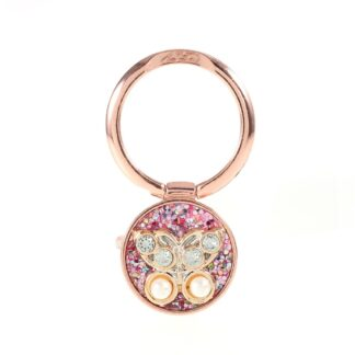 LGD Rhinestone - Finger grip holder til iphone / Smartphones - Rosa
